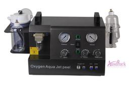 Wholesale oxygen jet machine - 80KPA Powerfull 4handles vacuum hydra facial machine hydro microdermabrasion dermabrasion water oxygen jet peeling device BEAUTY MACHINE CE
