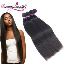 Wholesale 32inch Virgin Peruvian Hair - Malaysian Virgin Hair Straight Wave 4 Bundles Unprocessed Remy Human Hair Bundles Long Length Human Hair Extensions 30inch 32inch Bundles