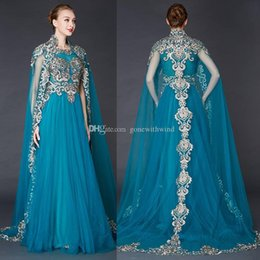 Wholesale Short Lace Shawl - real photos Arabia vintage shawl evening dresses 2018 heavily embroideried mother of the bride dresses sweep train a-line evening gowns