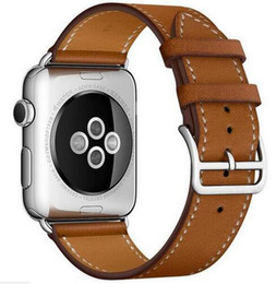 Wholesale Wholesale Seiko - Genuine Leather Single Tour Bracelet Watch Strap For Iwatch Apple Watch Band 38mm 42mm