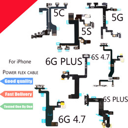 Wholesale Iphone Volume Switch - New Power Button On Off Flex Cable For iPhone 5 5S 5C 6 6S Plus 6Plus Mute Volume Switch Connector Ribbon Parts