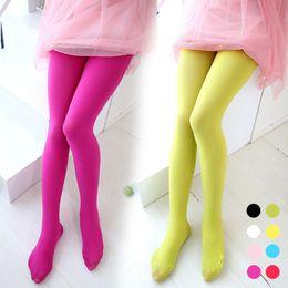 Leggings tinta unita per ragazze ragazza dei capretti Tights Pant velluto ragazze ballo Legging 8 colori per scegliere da