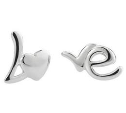 Canada Boucle d'oreille de lettre d'amour 925 boucles d'oreilles en argent Sterling argent femmes de mariage Stud plage pied boucle d'oreille femme rétro boucles d'oreilles occasionnels Offre