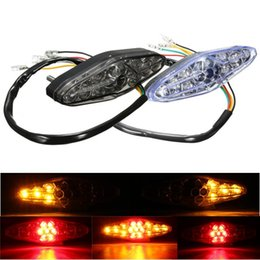 Wholesale Dirt Bike Honda - Motorcycle 15 LED Rear Tail Brake Stop Running Turn Signal Light ATV Dirt Bike Universal for Suzuki Honda Kawasaki