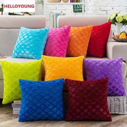 Wholesale Seat Lumbar Pillow - BZ039 Luxury Cushion Cover Pillow Case Home Textiles supplies Lumbar Pillow Super soft short plush chair seat