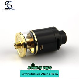 Wholesale Electronic Cigarette Plate - Original Syntheticloud Alpine RDTA 24mm Electronic Cigarette Rebuildable 24K Gold Plated Two Post 3mL liquid Capacity