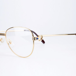 Wholesale Free Prescription Eyeglasses - Metal Frame Optical Eyeglasses Brand Designer Prescription Glasses Classic Men Large Frame Eyeglasses with Eyeglasses Box Free Shipping