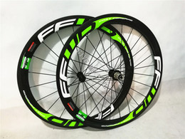 Wholesale Cyclocross Carbon - 700c Carbon wheels tubular Clincher Cyclocross carbon wheels 50mm 23mm wide Wheel Bicycle Road Wheels