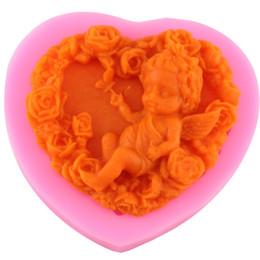 Смола 3d искусство онлайн-Rose Angel Craft Art силиконовые мыло плесень 3D ремесло формы DIY Fimo смолы глины свечи формы помадной мыло ручной работы формы