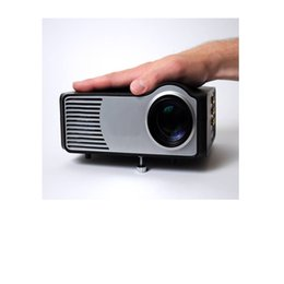 Wholesale Ypbpr Usb - Wholesale- LED Projector Max to 640*480, 1080i with HDMI USB SD Support Full HD with YPbPr,A V,S-video,VGA (PC)Give Gift HDMI Cable