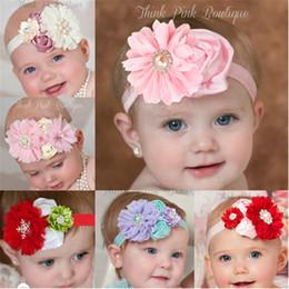 Wholesale Satin Ribbon Band - hair band headbands for girls Satin headbands ribbon hair bands ribbon grosgrain ribbon Girls pink hair bow butterfly