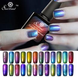Wholesale Color Changing Gel Nail Polish - Wholesale- Saviland 1pcs 3D Chameleon Nail Varnish Nail Gel Polish UV Lamp for Manicure Changes Color GEL Lacquer Glaze