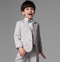 Wholesale Upscale Vest - High quality spring upscale children's new boy suit flower boy dresses, boys suits 3 pieces of jacket + pants + vest custom made