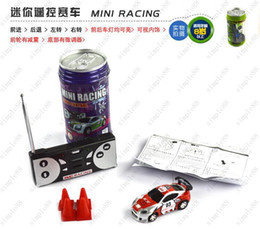 Wholesale Cheap Car Remotes - Hot Cheap Mini Coke Can RC Radio Remote Control Micro Racing Car Hobby Vehicle Toy Christmas Gift 60pcs DHL Free Shipping