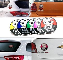 Wholesale Ford Focus Car Accessories - 1pc New 3D Aluminum Baby in car stickers For ford focus cruze kia rio skoda octavia mazda opel vw audi bmw lada car accessories