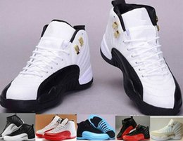Wholesale Clear Pvc Fabric Cheap - Cheap Top Quality Retro 12 XII 12s Man Basketball Shoes ovo white TAXI Flu Game French Blue Gamma Blue Playoff Sneaker Boots 6-8-9-10-11-13