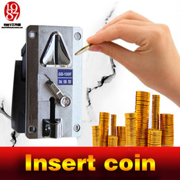 Wholesale Game Slot Machine - Room escape game prop,jxkj1987 coin selector drop coins into slot machine to escape from chamber room insert coins prop