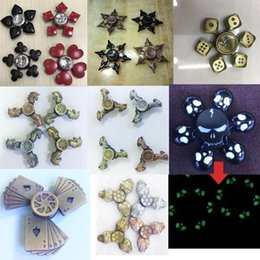 Wholesale Toy Horses Wholesale - Metal Fidget Spinners Decompression Toy Fidget Cube spinner skull Turtle flower horse rabbit Hand Spinner Metal EDC Durable Bearings