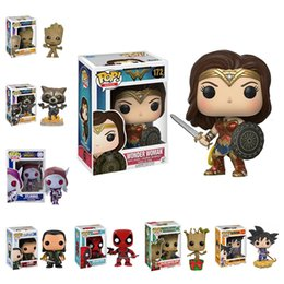 Wholesale Pops Videos - 42 Styles Funko POP Models Anime Cartoon Movies Video Game Action Figurines Toys Super Hero PVC Model With Retail Box Kids Gifts LA530