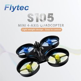 Wholesale Newest Rc - 2017 Newest Flytec S105 2.4GHz 6 Axis Gyro Mini Quadcopters Rc Drone Headless Mode 3D Flip RC flying toys vs jjrc h36