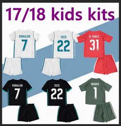 Wholesale Wholesale Real Madrid - DHL-2017 2018 Real Madrid kids soccer jersey Wholesale sports kits youth boys child jerseys uniform RONALDO JAMES BALE ISCO football shirts