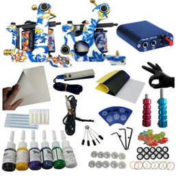 Wholesale Tattoo Machine Gun Power Supply - Beauty & Health Tattoo Kit 2 Machines 6 Colors Inks Tattoo Power Needles Supplies Set Equipment Tattoo Kits (Size: 6 Color)