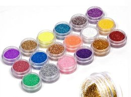 Wholesale Gel Nail Glitter Colors - Wholesale- Hot Search 18 Colors Nail Art Glitter Powder Dust Decoration kit For Acrylic Tips UV Gel DIY Drop Shipping Wholesale