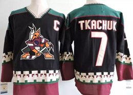 Vintage 7  Keith Tkachuk Phoenix Coyotes hockey Jersey Black New Arrival CCM  Throwback 97 Jeremy Roenick ICE Hockey Jersey 6e7b9354a