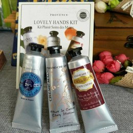 Wholesale wholesale mini lotions - In stock! LOVELY HAND KIT Shea Butter+Peony+rose hand cream with 6 pieces pack suit mini hand skin care lotions Fast free ship! 1box=6pcs