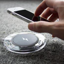 5V 1A carregadores sem fio transmissor para iphone X iPhone 8 7 6 6 mais galaxy S7 S8 nota 8 carregador htc luxo slim charger pad CD009 de Fornecedores de dual usb carro carregador trompete