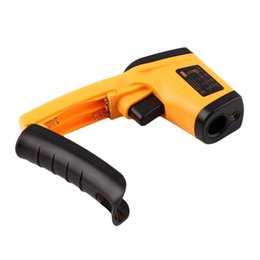 Wholesale Digital Thermometer IR Laser Display Infrared Thermometer Temperature Meter Gun Point Degree Applicable For Indoor Industry
