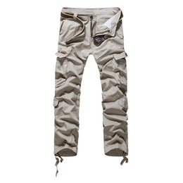 Wholesale Men Frocks - Wholesale- Free shipping 2016 spring new men's overalls loose cotton frock trousers fashion camouflage pants size 29-38 69 XYQ