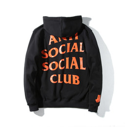 Wholesale Long Sleeve Color For Men - 2017 New Anti Social Social Club sports Hoodies for Men and women Paranoid Anti Social Club Undefeated Women Kanye ASSC Pullover Sweatshirt