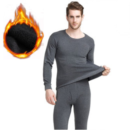 Wholesale Thermal Underwear Sets For Men - 2017 Winter long johns thick thermal underwear sets keep warm for Russia Canada and Europe men