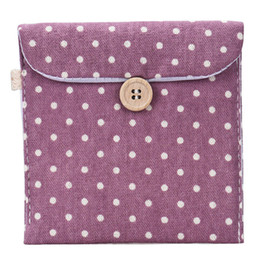 Wholesale Grey Diaper Bag - Wholesale- 2016 New Casual Candy Color Bags for Girl Cotton Diaper Sanitary Napkin Package Bag Storage Organizer Makeus Bag Free Shipping
