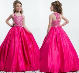 Wholesale Pa Lights - New Perfect Angels by Rachel Allan Square Neckline Pa Pageant Gown Custom Made Princess Ball Floor Length Kids Party Children Gift 1148