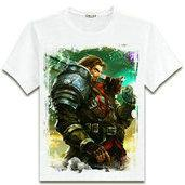 Wholesale Lol T Shirts - Garen T shirt Best hero short sleeve League of Legends printing tees Lol Game clothing Men cotton Tshirt