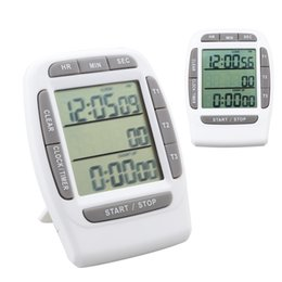 Wholesale Park Clock - Digital Clock Alarm Timer with Triple Display 3-Line Timer Countdown Stopwatch  Stop Clock for Cooking School Meeting Laboratory Parking Noo