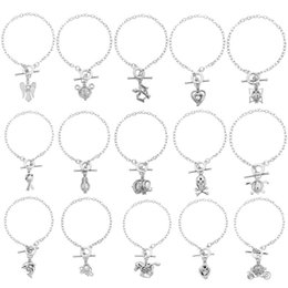 Wholesale Fashion Jewelry Charms - Elegant Women Pearl Oyster Charm Bracelets Fashion Silver Pistol Owl Ostrich Pearl Cage Pendant Locket Bracelet Jewelry charm hot 162399