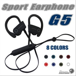 Wholesale Usb Cable For Bluetooth - 2017 New G5 Wireless Bluetooth 4.1 Magnet Sport Headsets Multi connection function with USB Cable for mobile phones