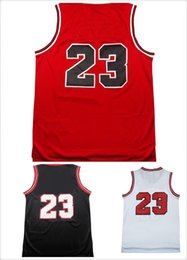 Wholesale Cheap Basketball Wear - Top quality #23 Jerseys Classical Black Red White Basketball Jersey Men Sports wear embroidered Logos Cheap sports shirts