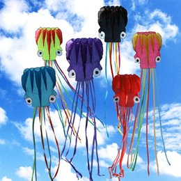 Wholesale 4 m Octopus Kite Single Line Stunt Software Power Kite With Flying Tools Inflatable And Easy To Control Fly Kids Outdoor Sports Fun