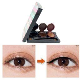 Wholesale Eyeliner Palette - Music Flower Makeup Eyeliner Gel & Eyebrow Powder Palette Waterproof Lasting Smudgeproof Cosmetics Eyeliner Gel