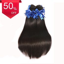 Wholesale Dhgate Express - Dhgate Express Free Shipping Cheap Price 3 Bundles Virgin Brazilian Straight 100% Raw Remy Human Hair 4*4 inch Closure
