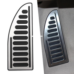Wholesale Per Cover - Footplate Footboard Pedal Foot Rest Pedal cover stainless steel 1pc per set For Ford  Focus 2  focus 3  Fiesta  Mondeo  Kuga