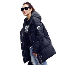 Wholesale Down Coat Ladies Pattern - 2016 Autumn & Winter women down cotton jacket women coat jacket sliod parkas Long-sleeve ladies winter coat q0425