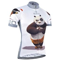 Wholesale Panda Cycling Top - BXIO Cycling Clothing Short Sleeve Summer Ropa Ciclismo 3 Rear Pockets Cycling Shirt Panda Pattern Cycling Jersey Men BX-081