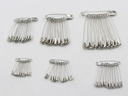Wholesale wholesale safety pins - 200Pcs Lot Needles Safety Pins Silver Assorted Size Small Medium Large Sewing Craft 19mm, 22mm, 26mm, 32mm, 38mm, 45mm, 55mm