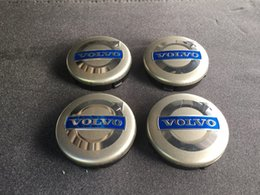 Wholesale Volvo Hub Cap - NEW VOLVO 4pcs GRAY CENTER WHEEL COVER HUB CAPS EMBLEM RIM BADGE 3546923