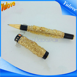 Wholesale Dragon Gift Pen - Yud25 Jinhao Brand High-end Gold Dragons Roller Pen Gift Pen Fashion Gift For Man Wholesale and Retail